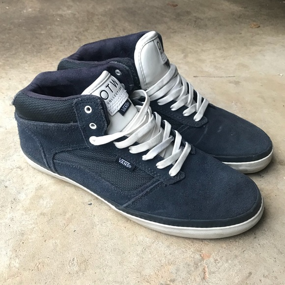 7b12bcdade Vans OTW Navy Suede Skate Shoes Bedford Mid. M 5bf9a19b534ef9d12f98bcb3